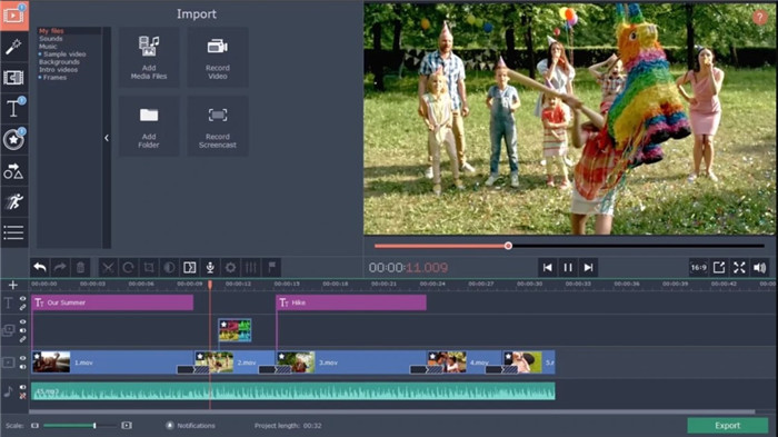 movavi-video-editing software